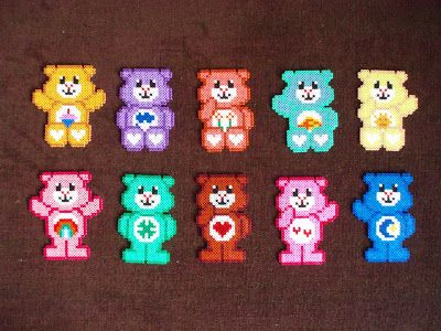 Enjoy the HandMade: Hama Beads Osos amorosos דובוני איכפתלי :)