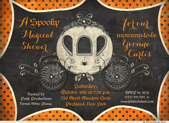 best  orange baby showers ideas on   food for baby, Baby shower invitation