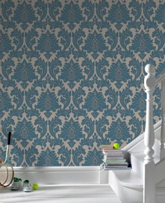 "contemporary damask wallpaper (25"" repeat)"