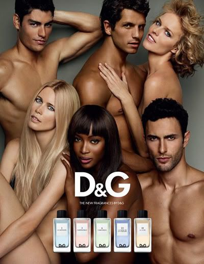 Dolce and Gabbana Fragrance - famous models ad
