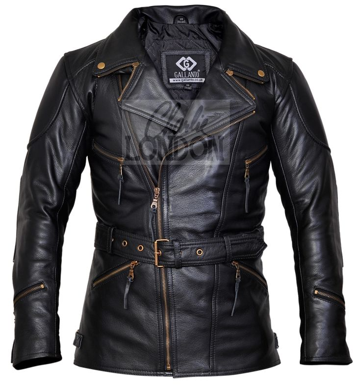 3/4 Eddie Black Long Motorcycle Jacket | Charlie London - Leather Jackets for Men and Women - FREE UK DELIVERY