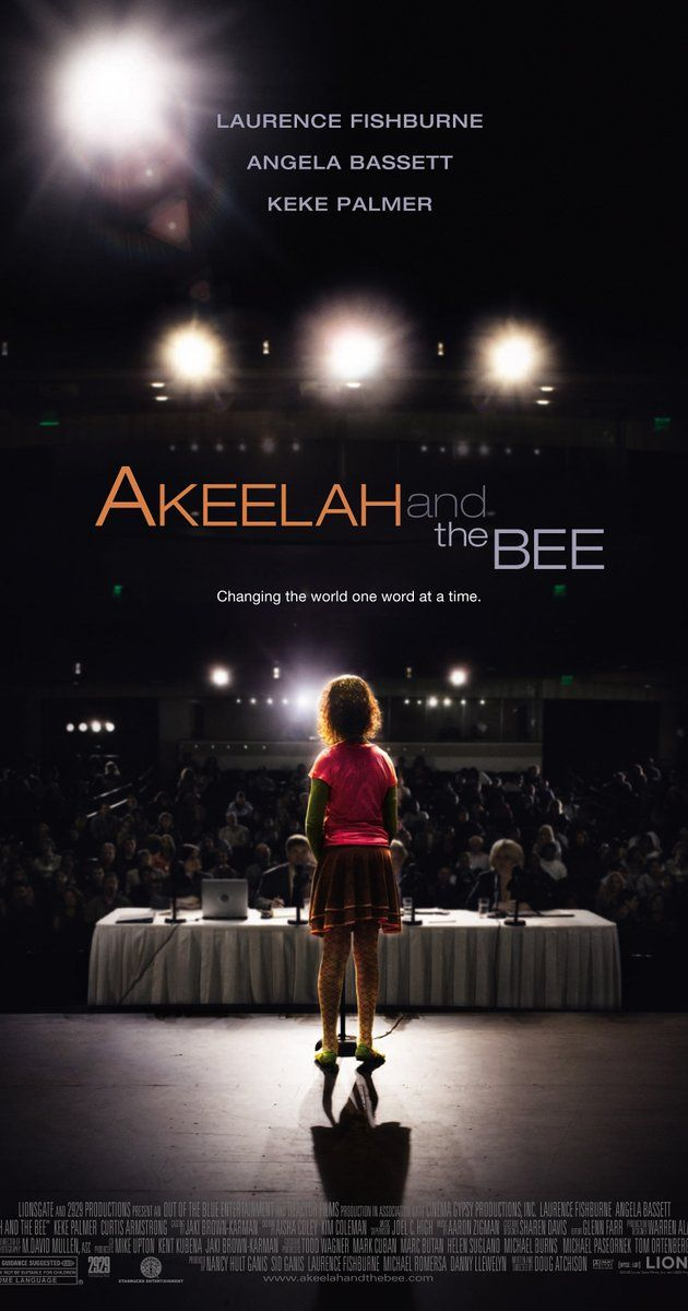 Directed by Doug Atchison.  With Angela Bassett, Laurence Fishburne, Keke Palmer, Curtis Armstrong. A young girl from South Los Angeles tries to make it to the National Spelling Bee.