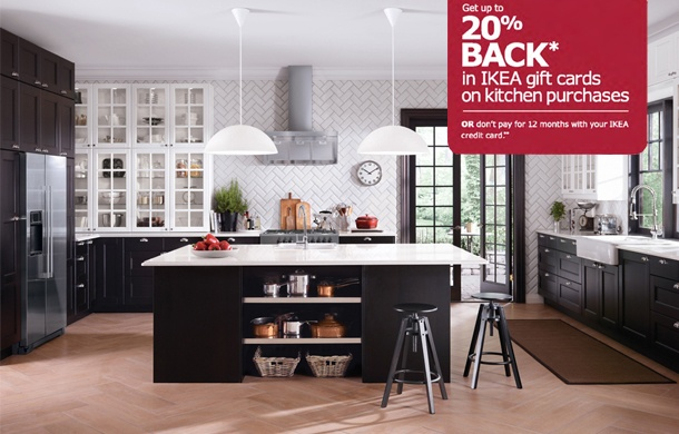 Ikea Kitchen Black ekbacken countertop, light oak effect   kitchens