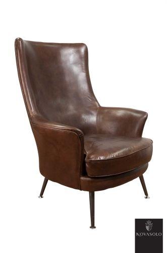 """Eksklusiv York lenestol med metallben. Stolen er produsert i """"vintage leather"""" og har et flott design.Stolen er produsert i """"vintage leather"""" av beste kvalitet og har med sin høye rygg og gode sittekomfort egenskaper som er godt egnet til norske forhold! Ved kjøp av denne stolen vil du være sikret et møbel av høy kvalitet du vil ha glede av i mange år."""