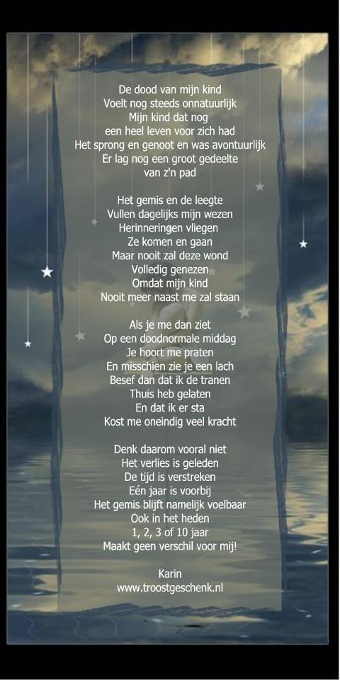 De dood van mijn kind www.troostgeschenk.nl