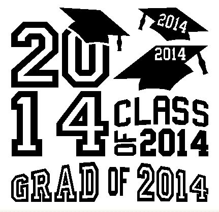 5 graduation Class of 2014 decal stickers #2  A great gift for grad students to apply on any smooth clean surface for example: smartphones, tablets, guitar, mirrors, wood, windows, walls, any part of cars, trucks, vans, endless possibilities  They're made from high quality vinyl material that will withstand any weather and will never damage any surface  Includes: 1 sheet of 4 graduation #2 - decal & instructions  Shipping & Handling 1-3 business days in the USA
