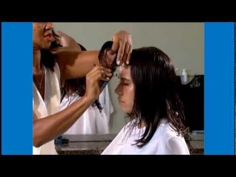 Curso Corte de Cabelo Feminino - Técnicas de Corte Degradê - Cursos CPT - YouTube