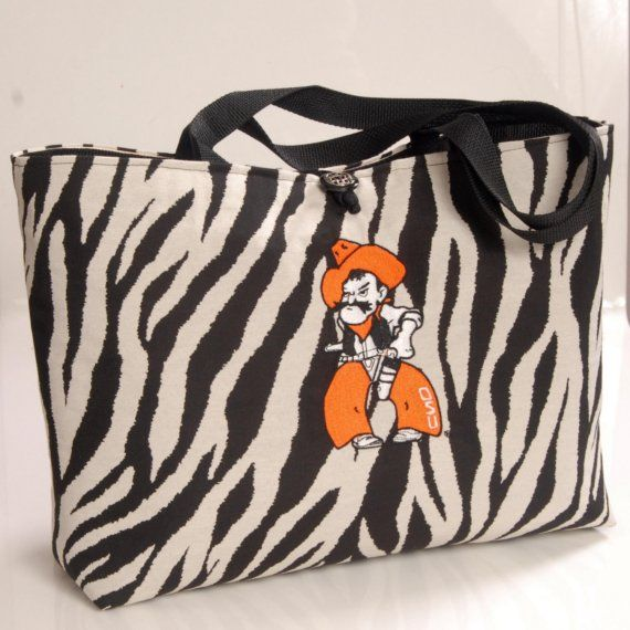 Zebra Oklahoma State University Pistol Pete by RiginalsByRuth, $75.00