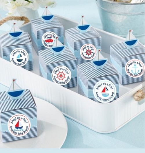 Personalized Nautical Baby Shower Box (Set of 12 - as low as $1.50 each!)