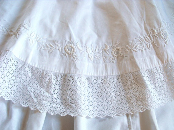 Exceptional+Hand+Embroidered+French+by+Vintagefrenchlinens+on+Etsy,+$850.00