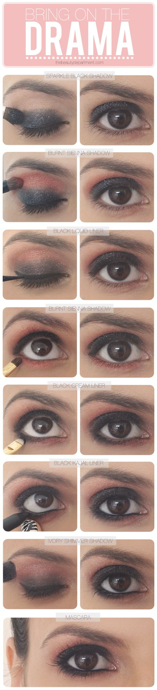 Drama eyes / brown eyes makeup