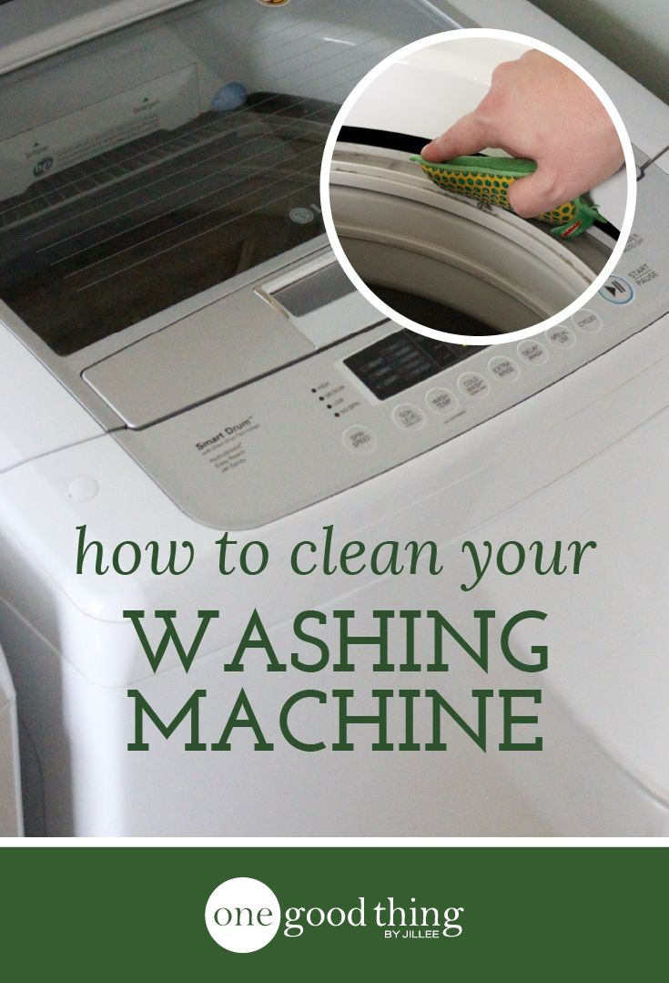 Learn how to clean your washing machine. Do this process twice a year to keep your machine running efficiently and effectively!