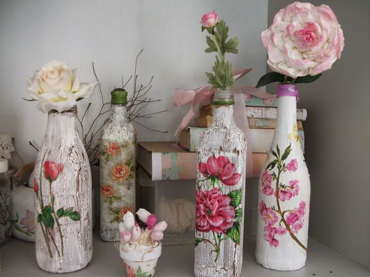 IS: DIY: Recycled Bottle with decoupage ♥