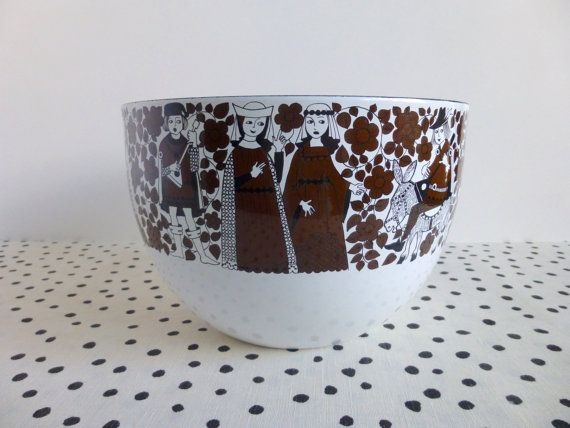 Vintage Finel Ritari Bowl Finel Bowl Arabia by ForestHillsVintage