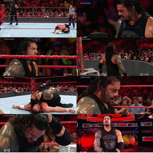 Roman is the man of his words..what ever he claim to his fans he delievered and now once again he proved him self,standing unyield in his yard and letting his haters bowled over again😎😎 ~congratulating roman for his victory🎉🎊 and hope he is gonna fight the same in summerslam against brock leasner🔜…