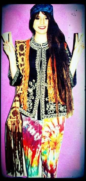 Tie-dye hippy costume