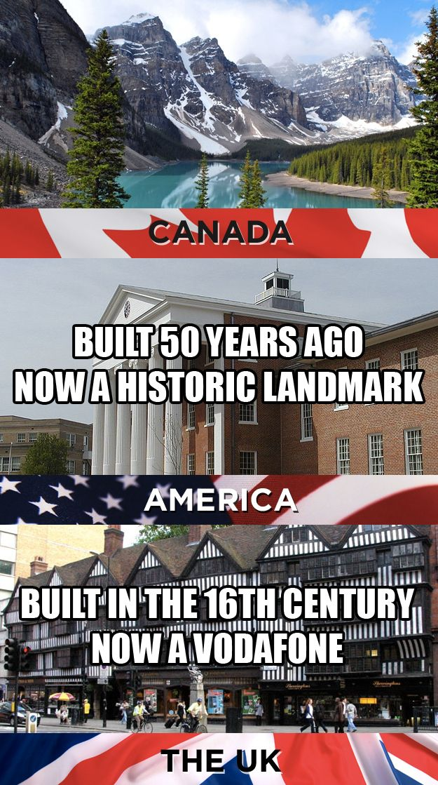 What we consider landmarks: | 19 Things America, Canada, And The U.K. Cannot Agree On