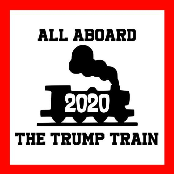 Collectible Us Political Memorabilia Donald Trump 2020 All Aboard The Trump Train Car Decal Bumper Sticker Hot Sale Political Collectibles Collectibles Us Presidential Candidate Collectibles