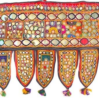 Indian, Hand Embroidered Vintage Toran