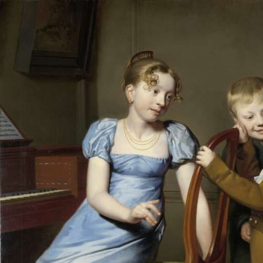 Piano Practice Interrupted, Willem Bartel van der Kooi, 1813 - Search - Rijksmuseum