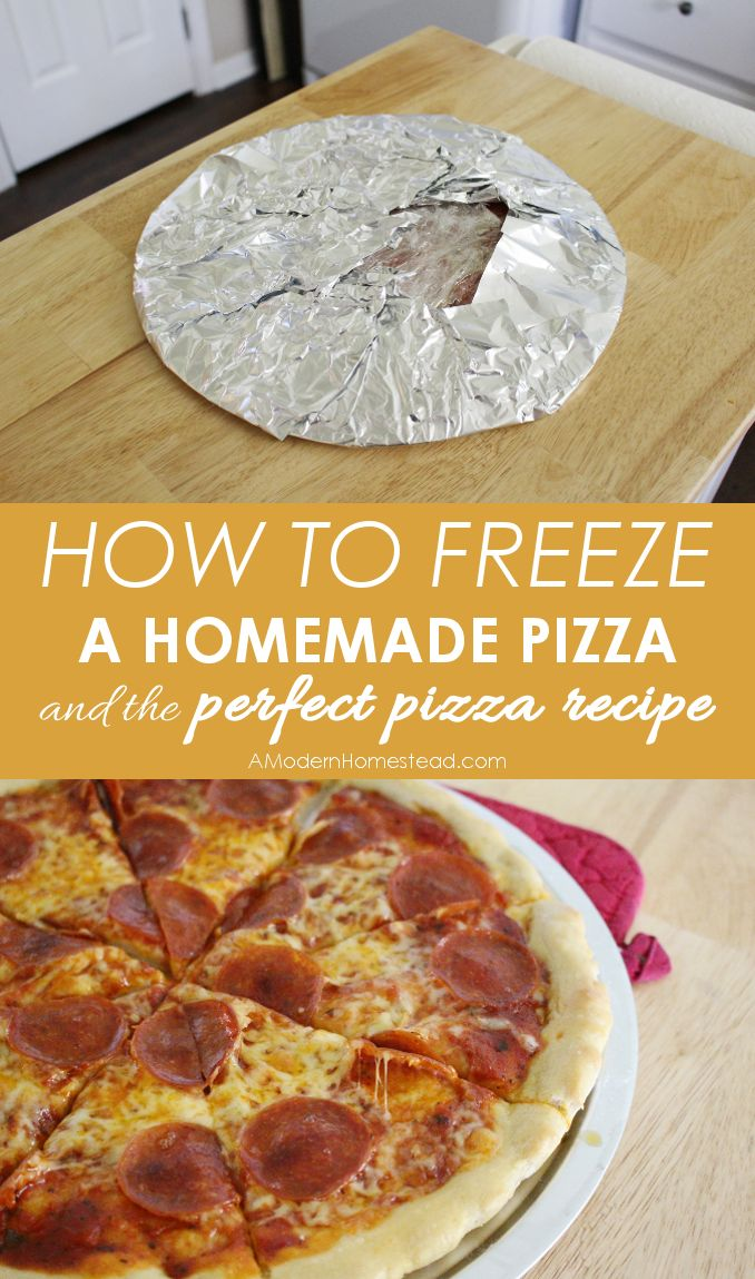 How to Freeze a Homemade Pizza. Where has this been all my life? I love this! Includes a recipe for einkorn pizza crust.