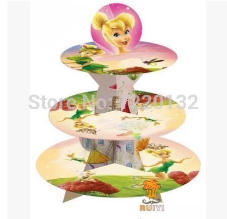 1 комплект комикс тинкер Bell день рождения младенцы душ ну вечеринку картон кекс стойка держать 24 кексы купить на AliExpress