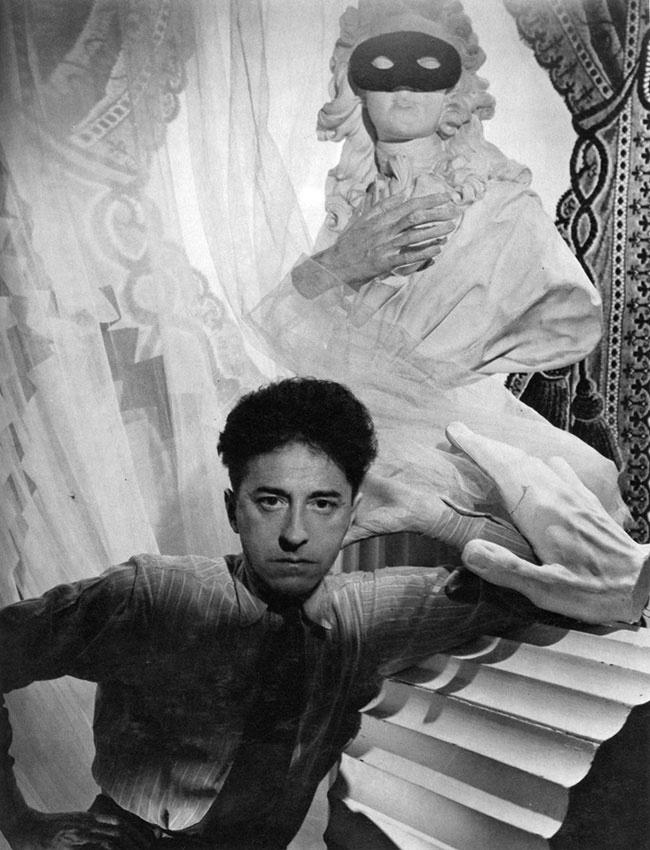 Jean Cocteau (French director: Le Sang d'un Poète [The Blood of a Poet, 1930], La Belle et la Bête [Beauty & the Beast, 1946], L'Aigle à deux têtes [The Eagle with Two Heads, 1948], Les Parents terribles [1948], Orphée [Orpheus, 1950]).