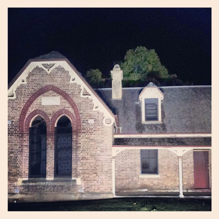 LOVE MELT - the old creepy local school house at night