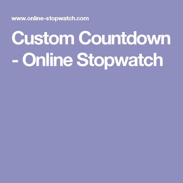 Custom Countdown - Online Stopwatch