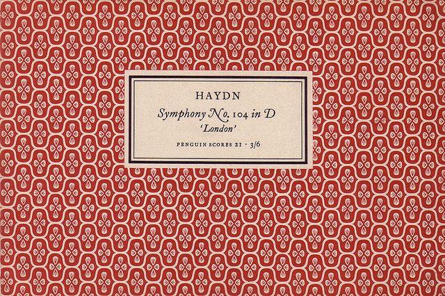 Penguin Scores no. 21: 1953  Publisher: Penguin Books / Series: Penguin Scores / Designer: Jan Tschichold / Year: 1953 / Pattern by Elizabeth Friedlander    by oliver.tomas, via Flickr    http://www.flickr.com/photos/ad_symphoniam/with/5103707941/#