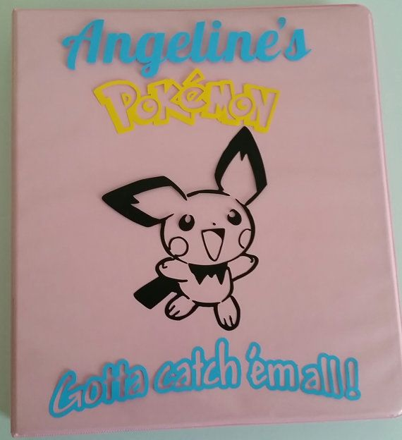 Personalized Pokemon Card Collector's 1 Inch Binder