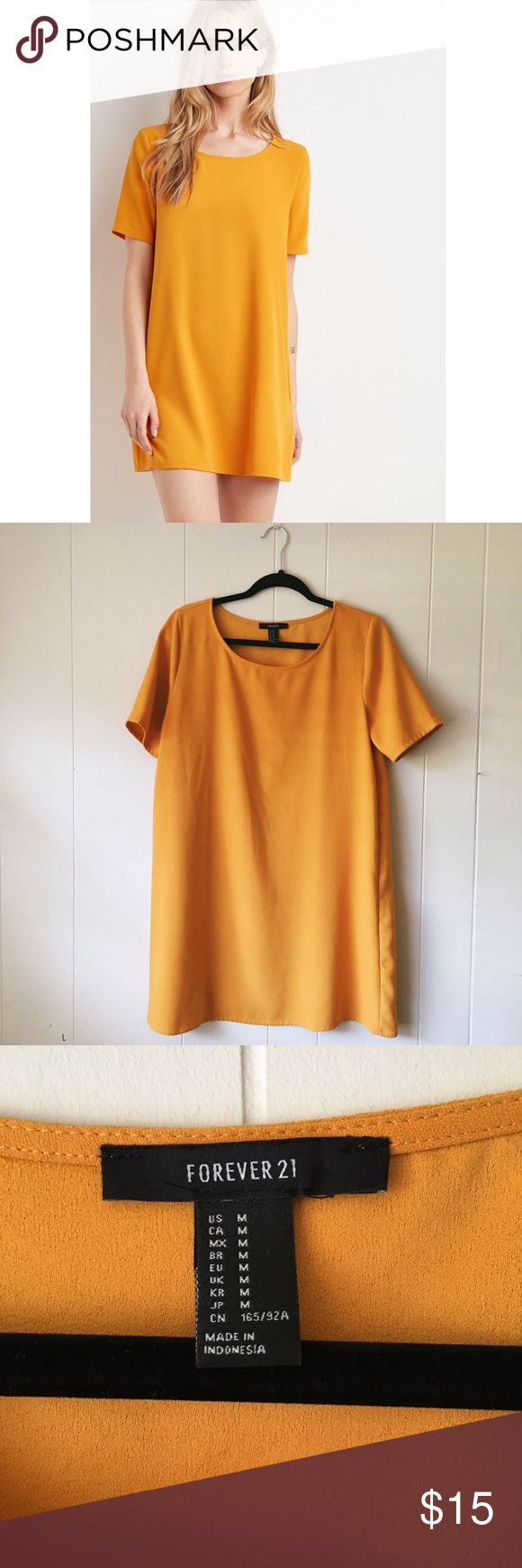 Mustard Colored Dress Worn about 2x's. Forever 21 Dresses Mini