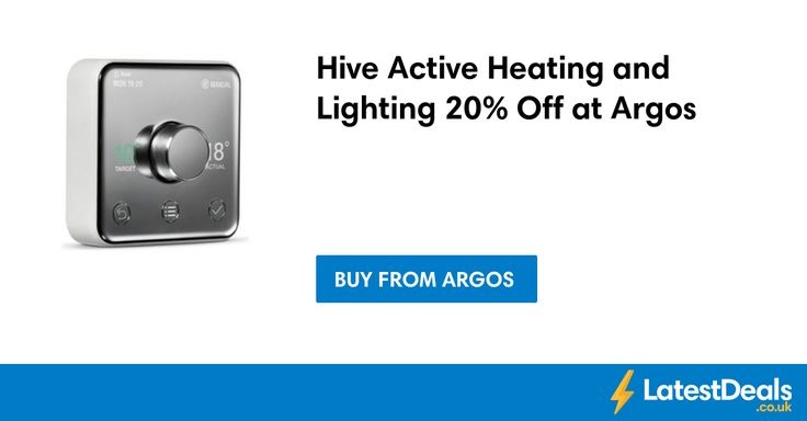 Hive Active Heating and Lighting 20% Off at Argos