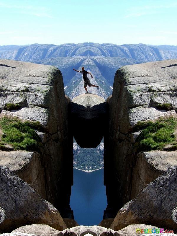 Kjerabolten rock, Norway: Spaces, Favorite Places, Beautiful, Kjeragbolten Boulder, Places I D, Travel, Rocks, Norway