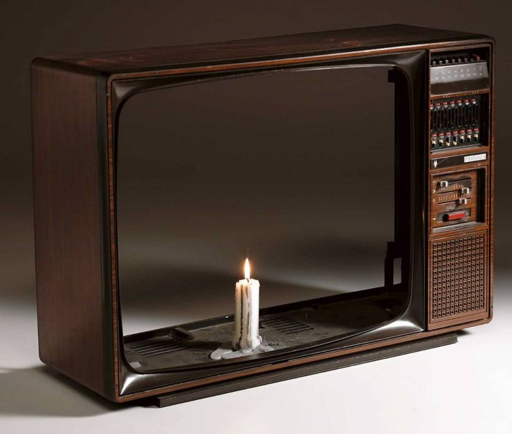 """Nam June Paik, """"TV Candle"""" and TV case"""