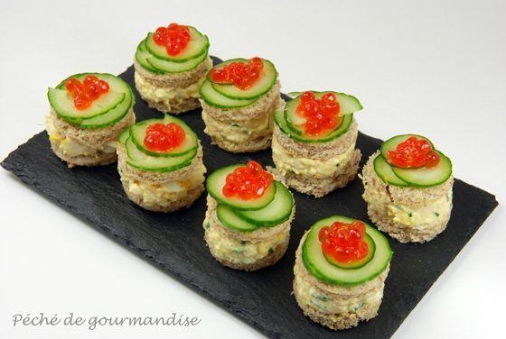 Mini-sandwichs au crabe - Péché de gourmandise !