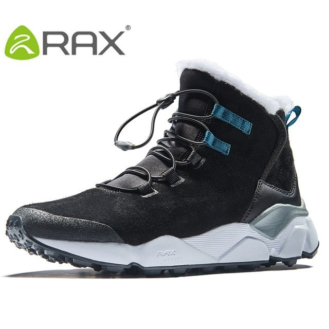 58bea7a07ab RAX Men s Hiking Shoes Latest Snowboot Anti-slip Boot Plush Lining Mid-high  Classic Style Hiking Boots for Professional Men Review