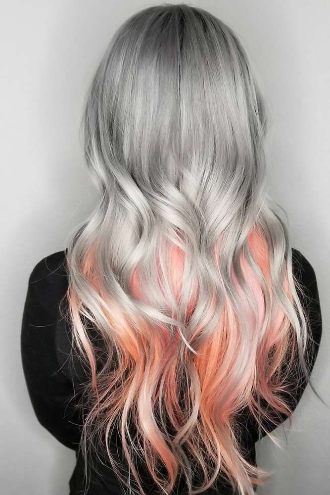 44 Peach Hair Is The Newest Trend Lovehairstyles Com Sliver Hair Color Hair Styles Peach Hair