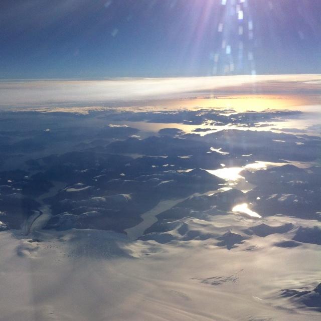 Flight to Punta Arenas (Chile)