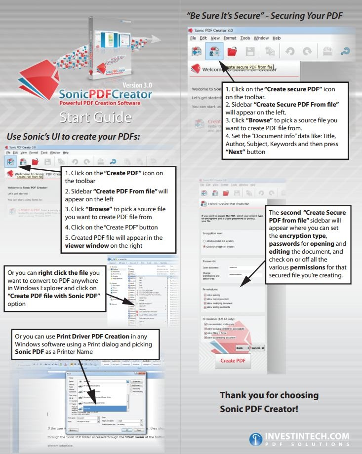 Professional, Secure PDF Creation