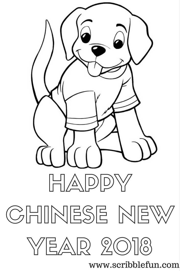 Happy Chinese New Year 2018 Coloring Sheets New Year Coloring