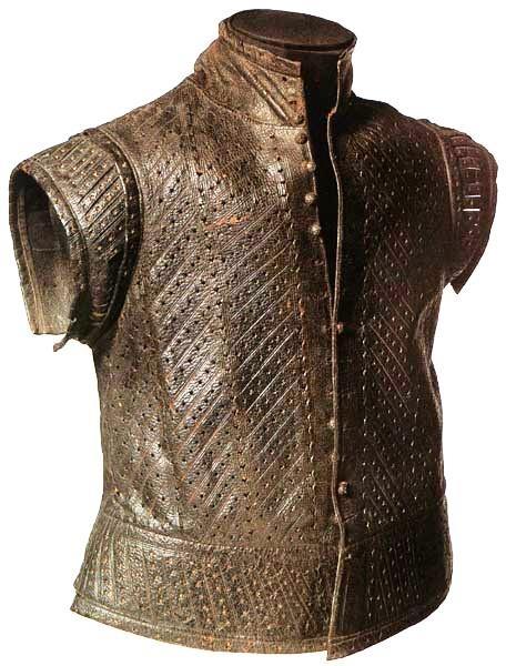 Leather Jerkin, circa 1550-1600 (Museum of London)  Via: The Pragmatic Costumer