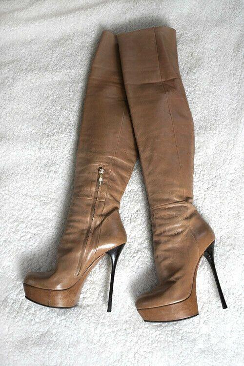 Dettagli su Gianmarco Lorenzi thigh high heels overknee
