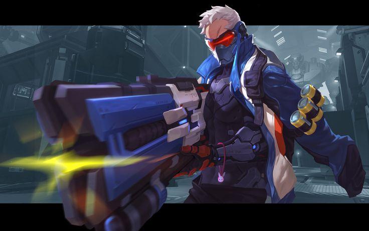 Jeu vidéo : Overwatch / soldat76 by Grandia Lee   / http://www.blizz-art.com/illustration/9124/