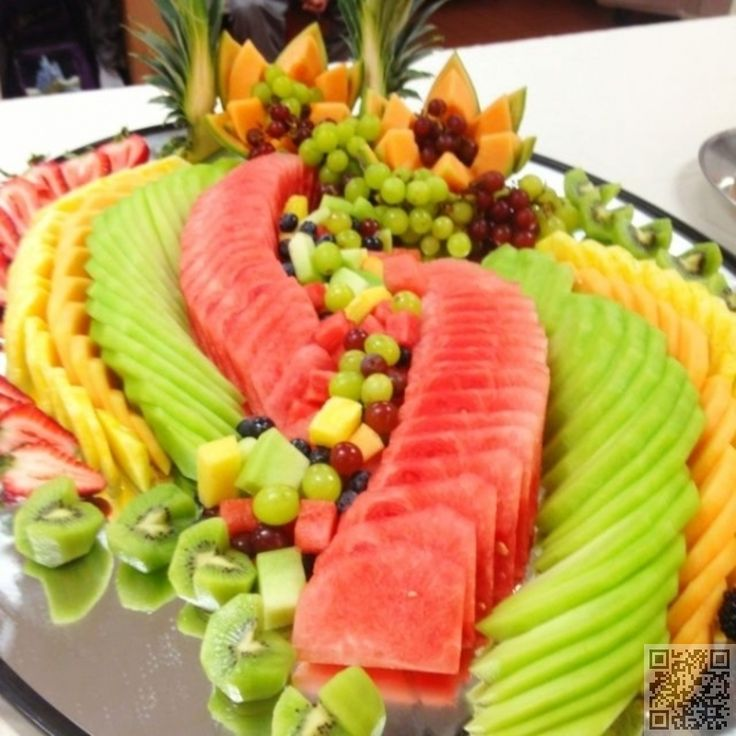 24. Flat #Fruit - 30 Tasty Fruit #Platters for Just about Any… #Platter
