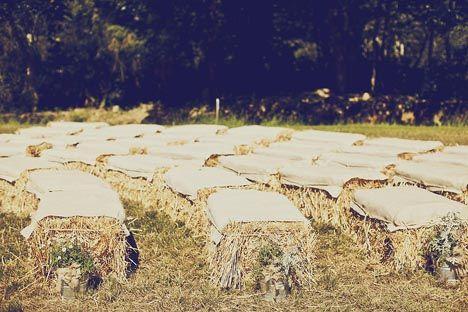 precious hay bale seating