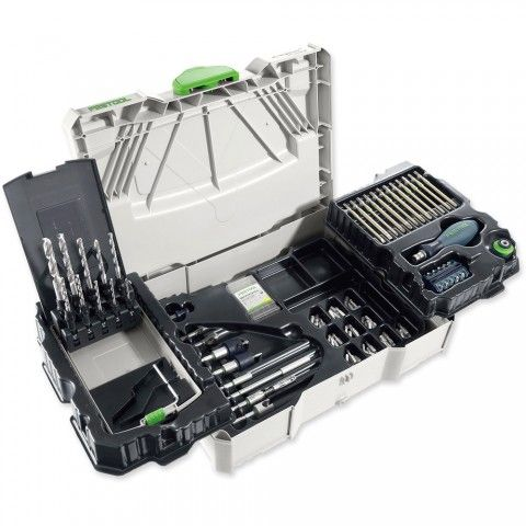 Festool CENTROTEC Systainer Kit 98 Piece - Festool CENTROTEC & FastFix Systems - Drills, Drivers & Screwdrivers - Power Tools | Axminster.co.uk