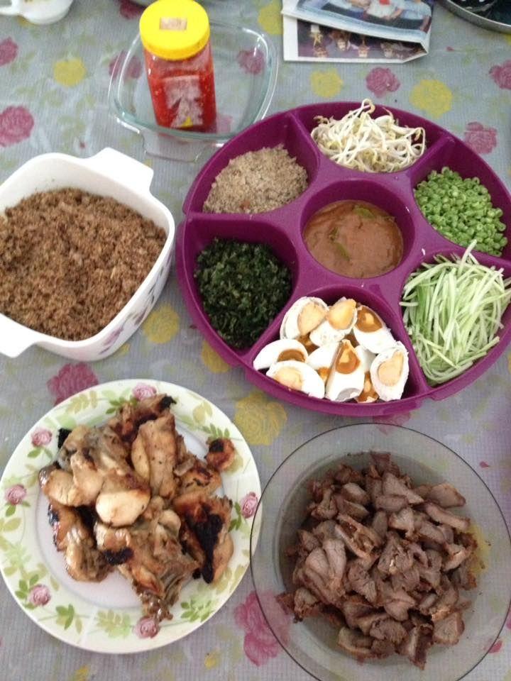 Nasi Kerabu Tumis Budu Kuali Recipe Nasi Kerabu Malaysian Food Food