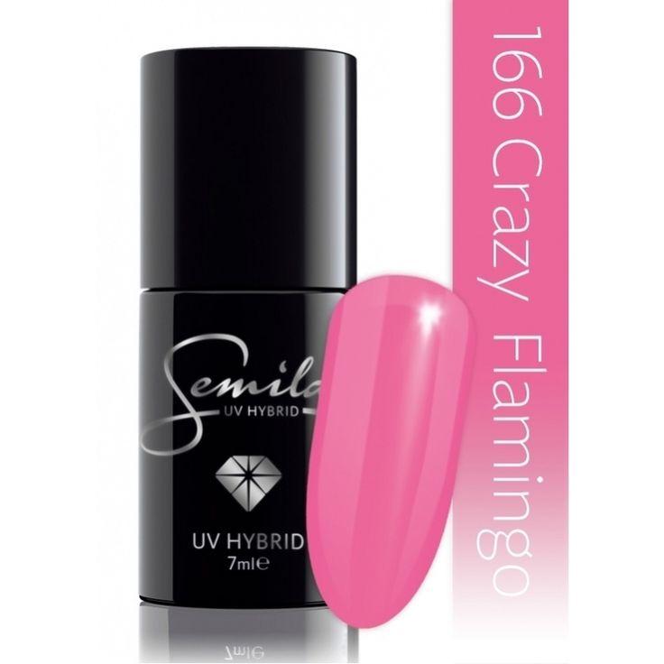 Ημιμόνιμο μανό Semilac - 166 Crazy Flamingo 7ml - Semilac | Προϊόντα Μανικιούρ - Πεντικιούρ Semilac & Ημιμόνιμα.