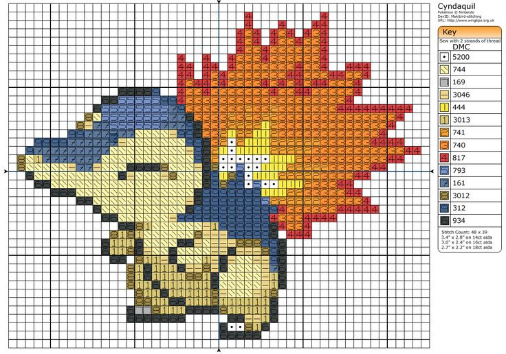 Cyndaquil » Birdie Stitching. Totally going to make this for Jeff. <3